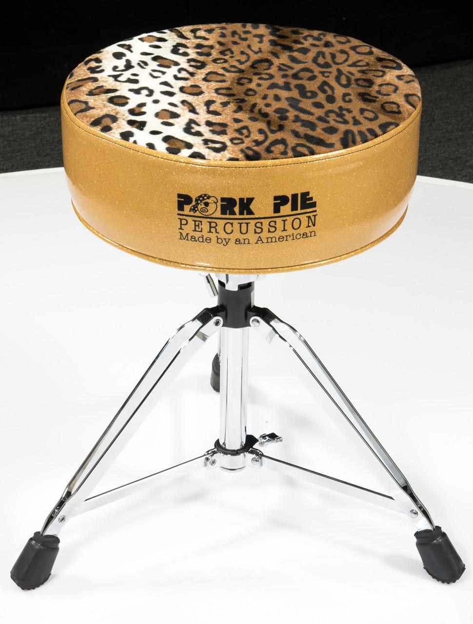 pork pie star round throne gold w leopard. Black Bedroom Furniture Sets. Home Design Ideas