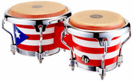 LP Mini Bongos Chrome Hardware Puerto Rican Flag
