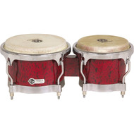 LP Classic II Bongos with Chrome Hardware Red Lava