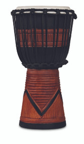 LP World Beat Wood Art Small Djembe, Black