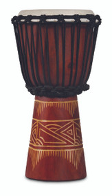 LP World Beat Wood Art Small Djembe Red