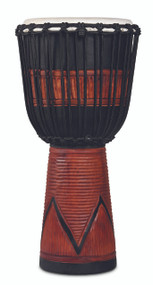 LP World Beat Wood Art Large Djembe, Black