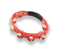 LP Cyclops Handheld Tambourine, Red, Steel