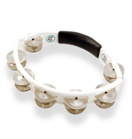 LP Cyclops Handheld Tambourine, White Steel