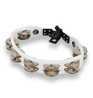 LP Cyclops Mounted Tambourine, White, Steel