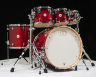 DW Design Series 6pc Drum Set - Cherry Stain