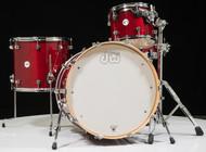 DW Design Series Drum Set 4pc - Cherry Stain 12/16/22/14SD