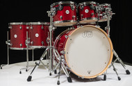 DW Design Series 7pc Drum Set - Cherry Stain