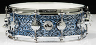 DW Collector's Series 5x14 Maple VLT Snare Drum - Blue Silk Onyx