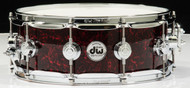 DW Collector's Series 5x14 Maple VLT Snare Drum - Crimson Chaos