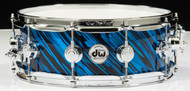DW Collector's Series 5x14 Maple VLT Snare Drum - Twisted Blue Oyster