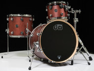 DW Performance Series 3pc Drum Kit Tobacco Satin Oil 12/14/20