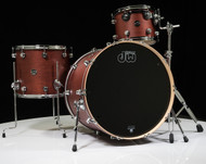 DW Performance Series 3pc Drum Kit Tobacco Satin Oil 12/16/24