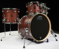DW Performance Series 4pc Drum Kit Tobacco Satin Oil 10/12/14/20