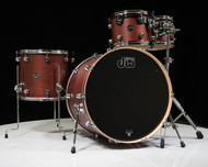 DW Performance Series 4pc Drum Kit Tobacco Satin Oil 10/12/16/24