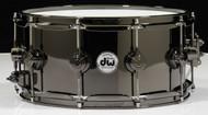 DW Collector's Series 6.5x14 Black Nickel over Brass Snare Drum (Black Nickel Hardware)