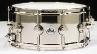 DW Collector's Series 6.5x14 Nickel over Brass Snare Drum (Nickel Hardware)