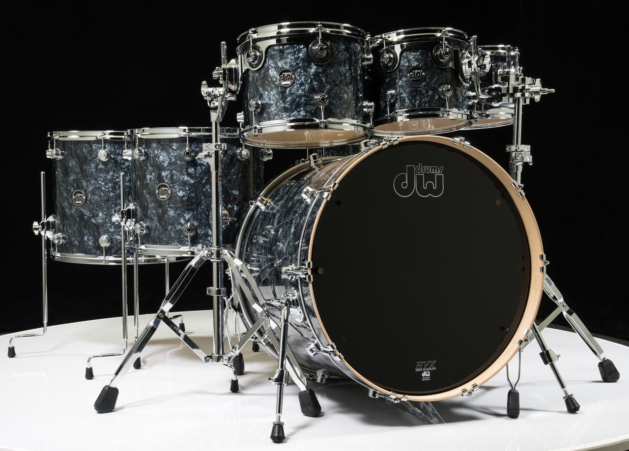 dw performance series 7pc drum kit black diamond 8 10 12 14 16 22 14sd. Black Bedroom Furniture Sets. Home Design Ideas