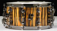 Sonor SQ2 Tiger Finish 14x7 Snare Drum with Black Chrome Hardware