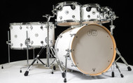DW Design Series 7pc Drum Set - Gloss White