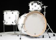 DW Design Series 3pc Drum Set - Gloss White 12/16/22