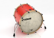 Sonor SQ1 22x17 Bass Drum - Hot Rod Red