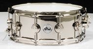 DW Collector's Series 5.5x14 Nickel over Brass Snare Drum