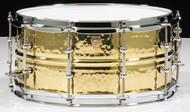 Ludwig Hammered Brass 6.5x14 Snare Drum w/Tube Lugs