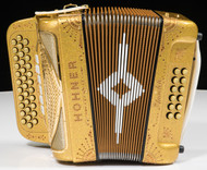 Hohner Anacleto Rey Del Norte TT Accordion- Gold
