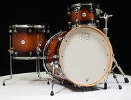 DW Design Series 3pc Drum Set - Tobacco Burst