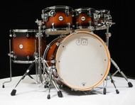 DW Design Series 6pc Drum Set - Tobacco Burst 8/10/12/16/22/14SD