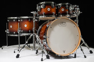 DW Design Series 7pc Drum Set - Tobacco Burst