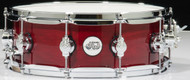DW Design Series 5.5x14 Maple Snare Drum - Cherry Stain