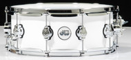 DW Design Series 5.5x14 Maple Snare Drum - Gloss White