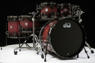 DW Collector's Series 7pc Purpleheart Shell Pack Candy Black Burst