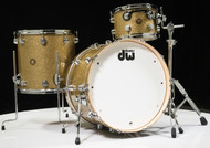 DW Collector's Jazz Series 3pc Shell Pack - Gold Glass - Maple/Gum Shells