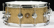 DW Collector's Jazz Series Snare 6x14 - Gold Glass