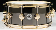 DW Collector's Series 6.5x14 Black Nickel over Brass Snare (Gold)