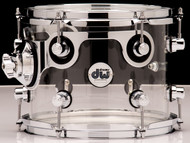 DW Acrylic Design Series Drum 8x10 Tom - Clear