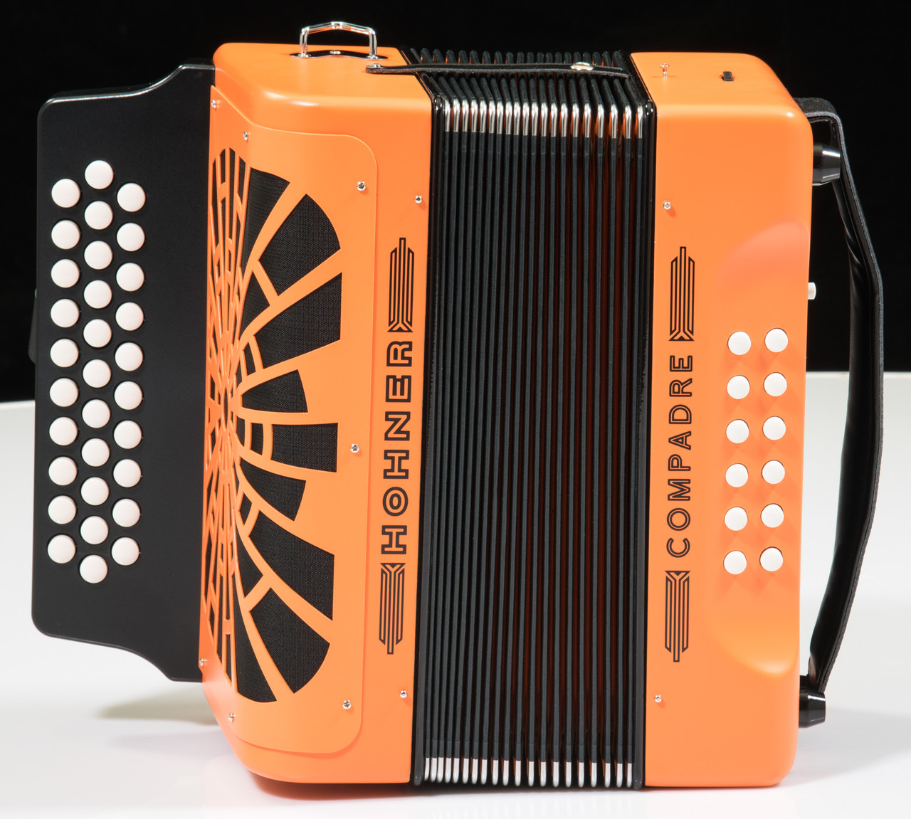 hohner compadre accordion w gig bag orange g c f. Black Bedroom Furniture Sets. Home Design Ideas