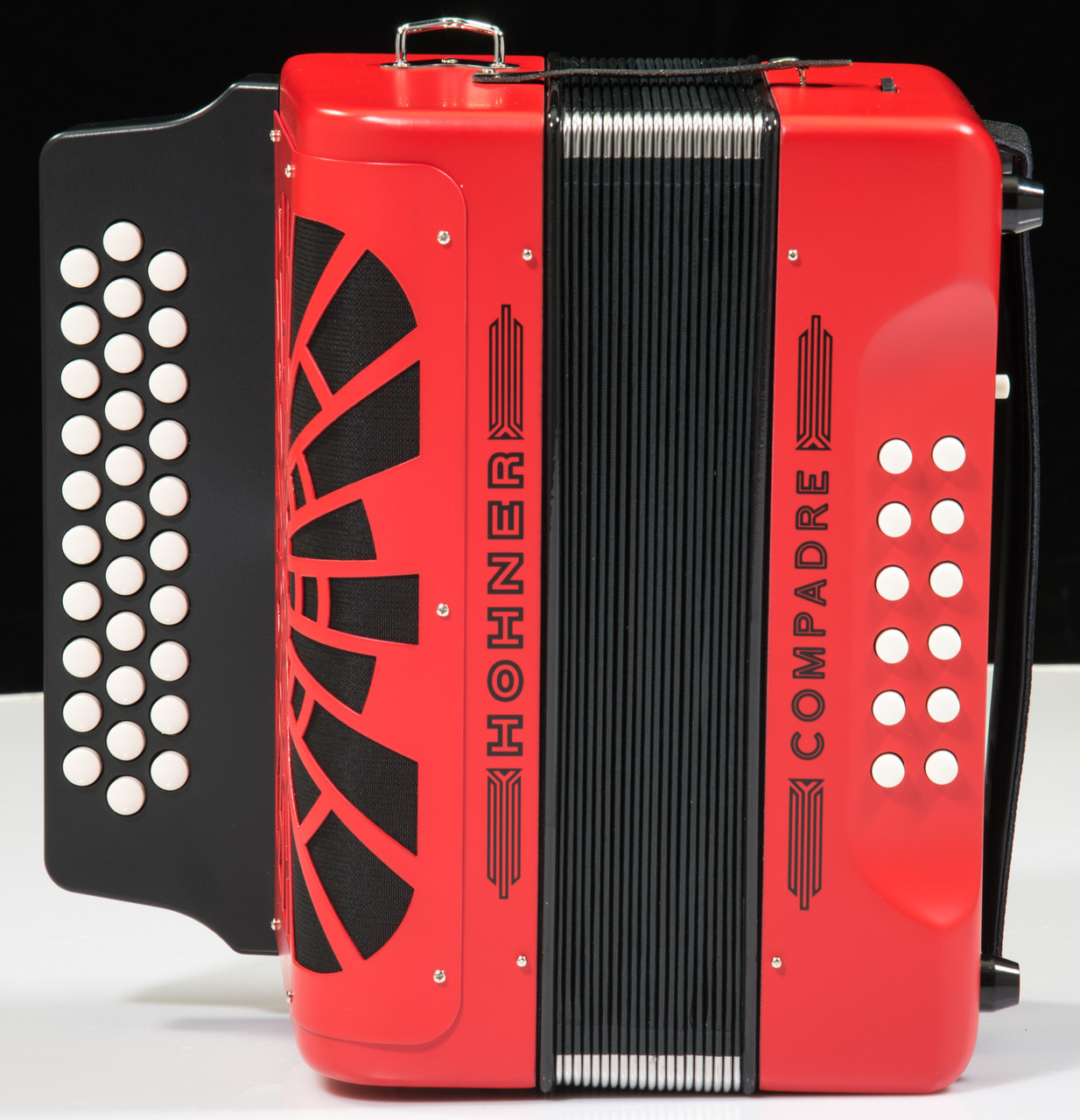 hohner compadre accordion w gig bag red f bb eb. Black Bedroom Furniture Sets. Home Design Ideas
