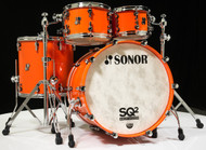 Sonor SQ2 4pc Beech Shell Pack - Pure Orange 10/12/16/22