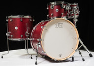 DW Design Series 4pc Drum Set - Dark Cherry