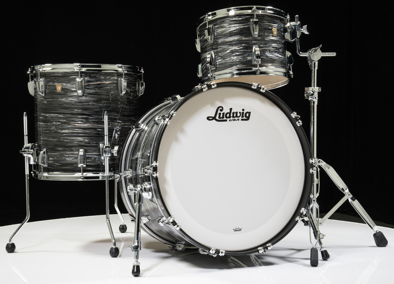 Ludwig Classic Maple FAB 3pc Shell Pack - Vintage Black Oyster