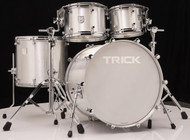 Trick Drums USA 4pc Raw Polished Shell Pack
