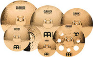 "Meinl Classics Custom Double Bonus Pack Cymbal Box Set with Free 10"" Splash and Free 16"" Trash Crash"