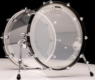 "DW Acrylic Design Series Drum 18"" x 22"" Bass Drum - Clear"