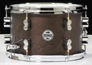 PDP Limited Edition Dry Maple 8x12 Snare Drum Dark Walnut Finish