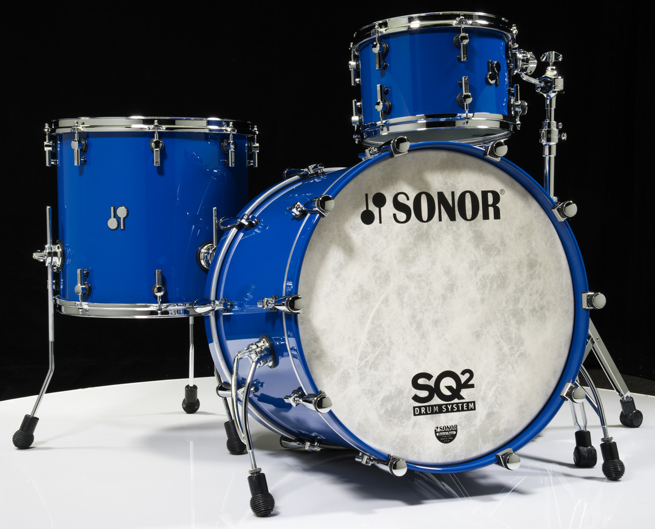 Sonor SQ2 Drums 3pc Beech Shell Pack - Ultra Marine