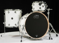 DW Performance Series 3pc Drum Kit Gloss White 12/16/22 Shallow